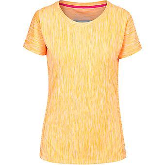 Transgressão das mulheres/senhoras Daffney curto manga Fitness t-shirts que Wicking