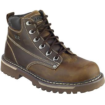 Skechers Mens Cool Cat Bully II Lace Up Leather Work Boot