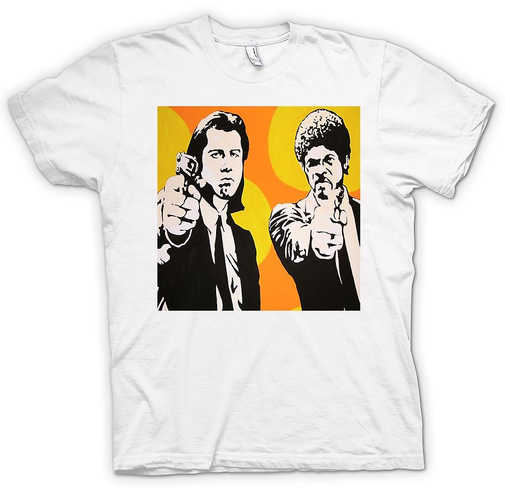 Mens t-skjorte-Pulp Fiction - Pop Art - Vincent & Jules