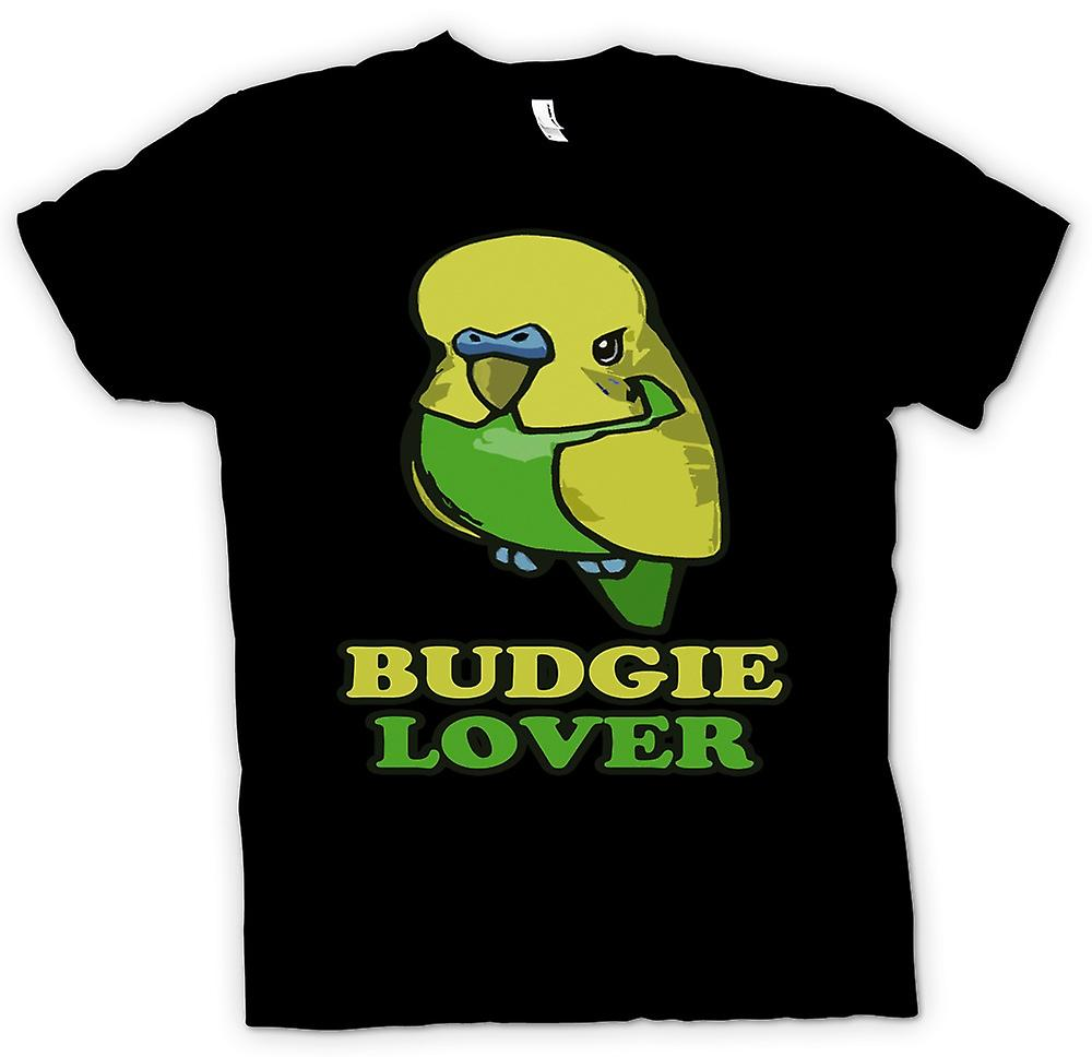Womens T-shirt-Budgie minnaar