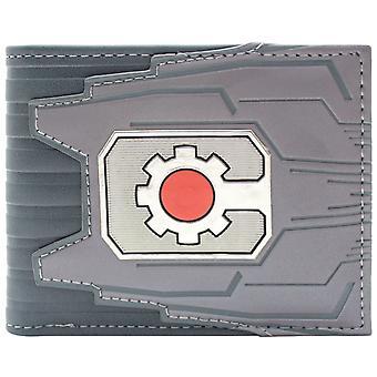 DC Cyborg Gerätekennung Cog Logo & Karte Bi-Fold Geldbörse
