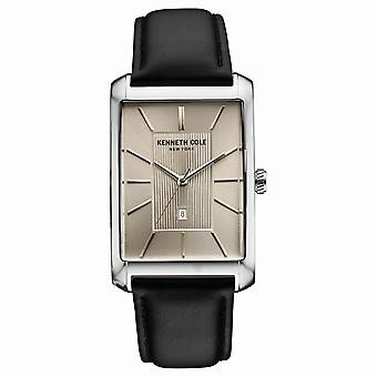 Kenneth Cole New York men's wrist watch analog quartz leather 10030832