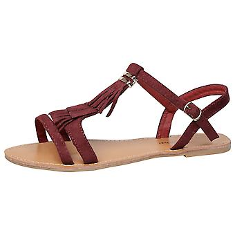 Luisa Womens Flat franja borla Open Toe sandalias
