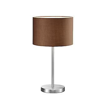 Trio belysning Hotel Modern Nickel Matt metall bordslampa