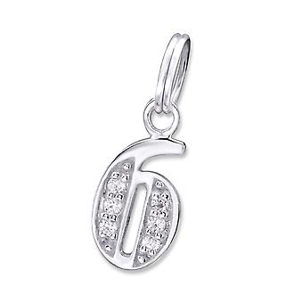 6 - 925 Sterling Silver Charms With Split Ring - W30107x