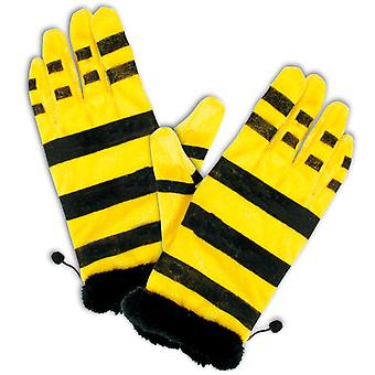 Bee gloves Black Yellow accessory