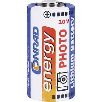 Camera battery CR123A Lithium Conrad energy CR123
