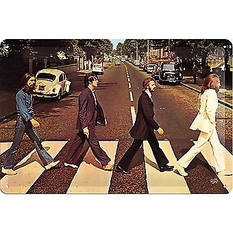 Beatles Abbey Road Embossed Metal Sign 300Mm X 200Mm