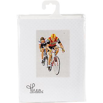 Cycling On Aida Counted Cross Stitch Kit-15.75