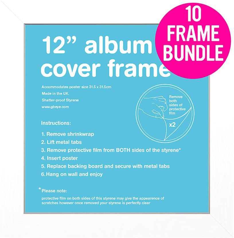 GB affiches 10 Album blanc MDF Poster Frames 12& 034; Bundle