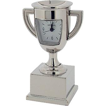 Gift Time Products Trophy Miniature Clock - Silver