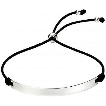 Beginnings Engravable Bar Toggle Bracelet - Black/Silver