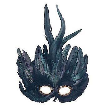 Bnov Black Feather Eye Mask
