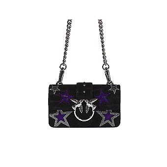 PINKO BLACK STARS MINI LOVE BAG