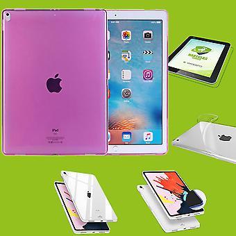 Apple iPad Pro 12,9 tommer 2018 rosa ermet coveret + H9 vanskelig glassmonter
