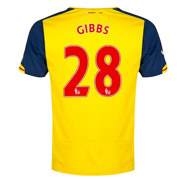 2014-15 Arsenal Away Shirt (Gibbs 28) - Kids