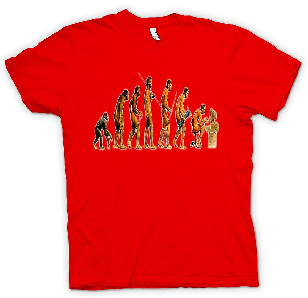 Heren T-shirt - Mans Evolution - grappig