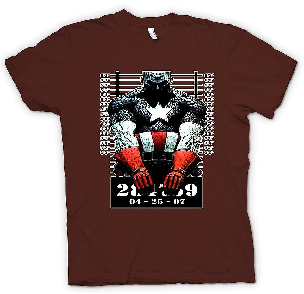 Hommes T-shirt - Captain America - Cartoon - Photo d'
