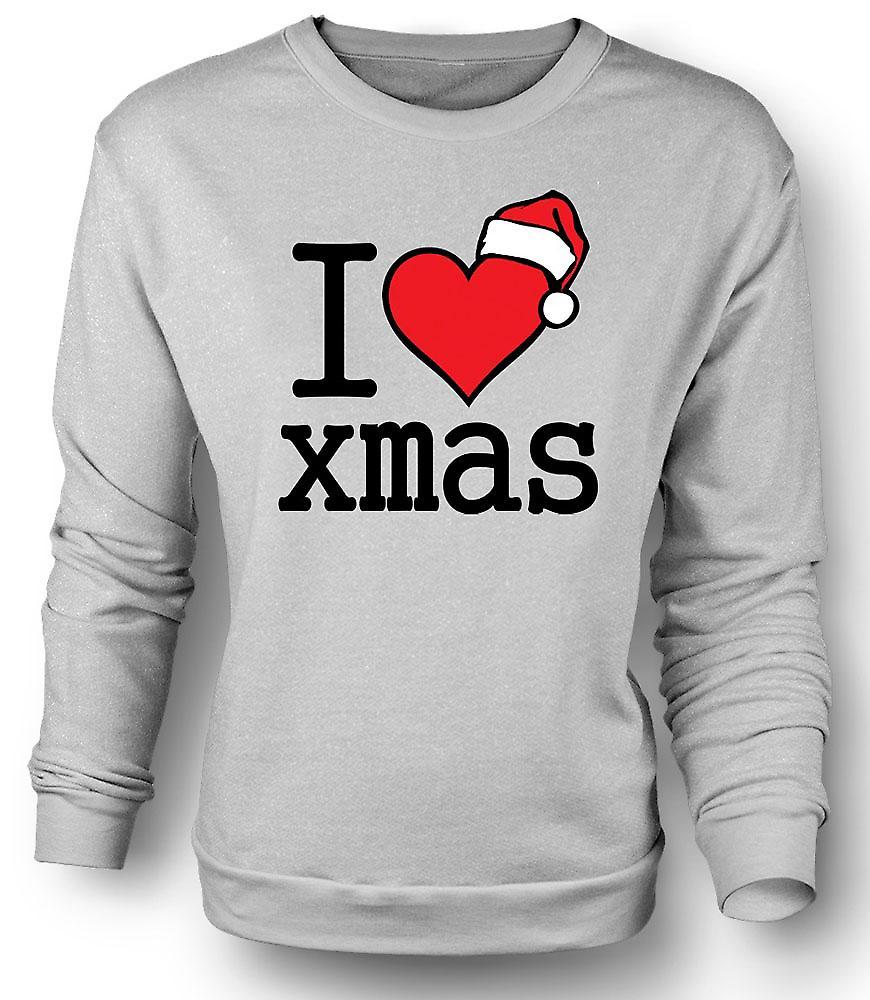 Sudadera para hombre me encanta Navidad - la Navidad divertida