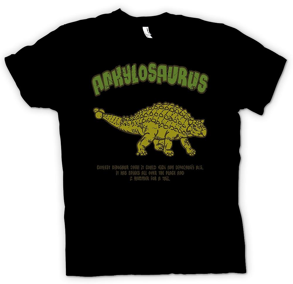 Kids T-shirt - Ankylosaurus - Coolest Dinosaur Ever - Hammer For A Tail