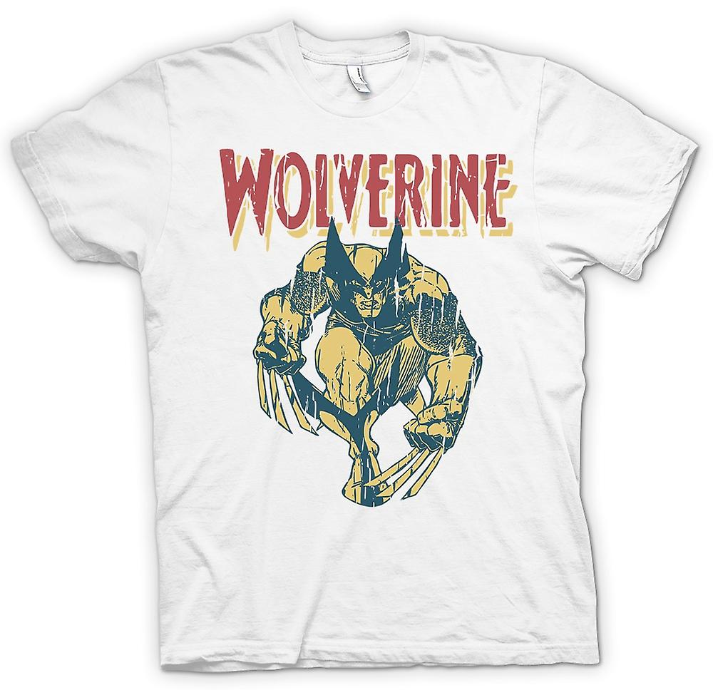 Womens T-shirt - Wolverine Superhero Claws Of Steel