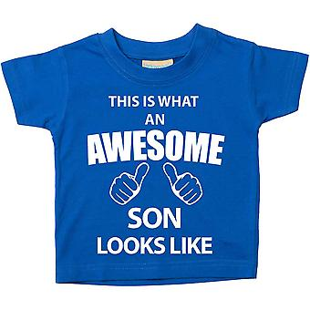 This is What An Awesome Son Looks Like Blue Tshirt