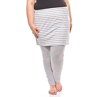 FLASHLIGHTS cosy set of leggings and skirt plus size grey