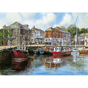 Gibsons Padstow Harbour Jigsaw Puzzle, 1000 pièces