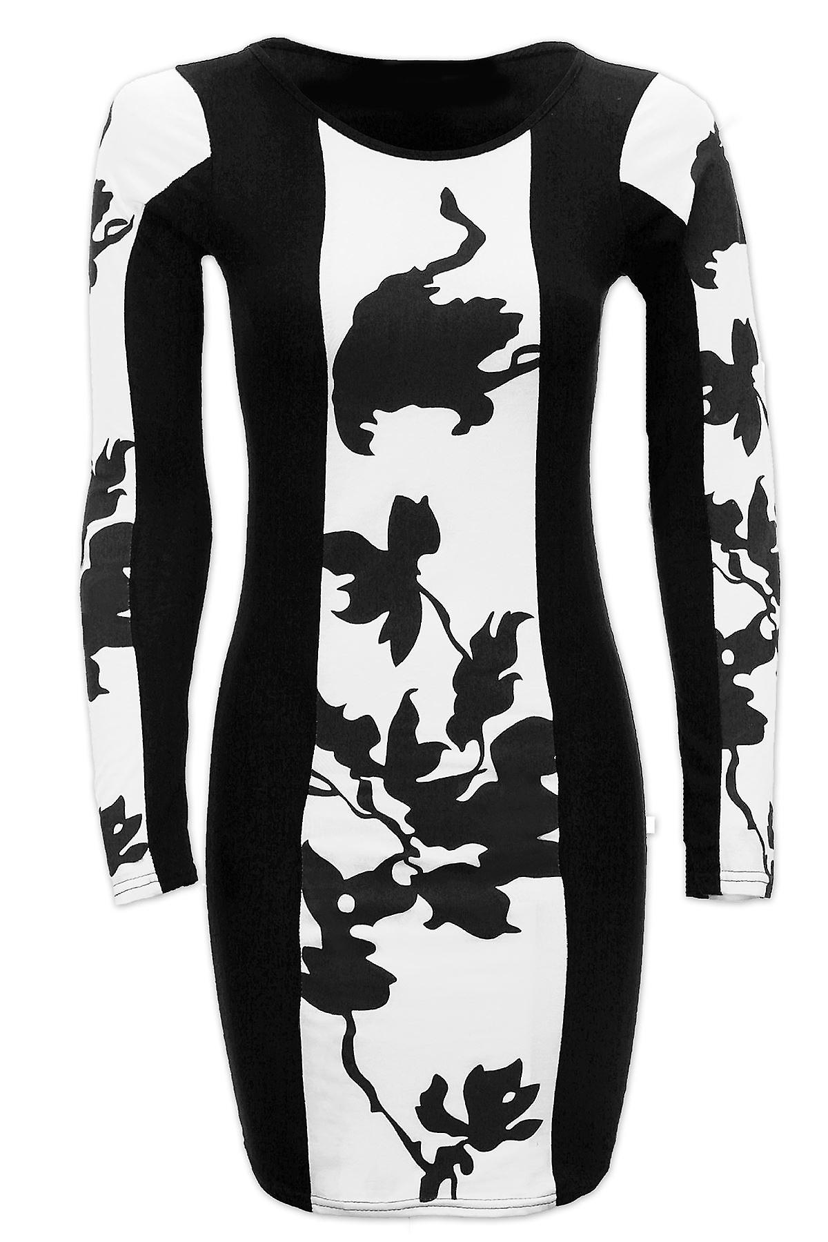 Ladies Celeb Inspired Leaf Print Mini Short Women's Bodycon Dress
