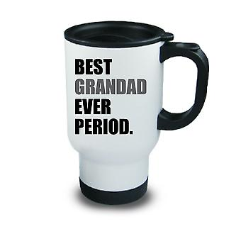 Best Grandad Ever Period Metal Travel Mug Red