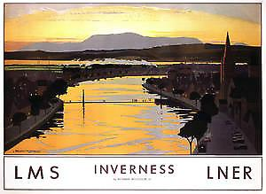 Inverness (old rail ad.) steel fridge magnet