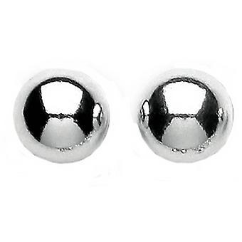 Bella 10mm Ball Stud Earrings - Silver