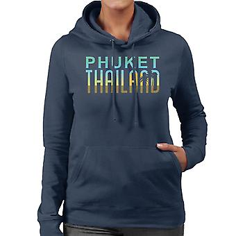 Phuket Sunset siluett Women's Hooded Sweatshirt