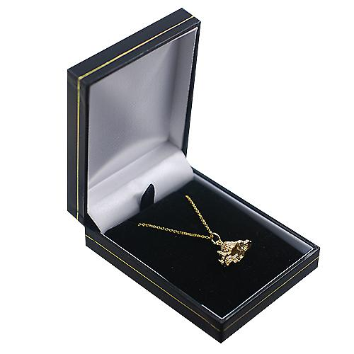 9ct Gold 11x17mm hollow St. Paul's Cathedral Pendant with a Cable link Chain 16 inches Only Suitable for Children
