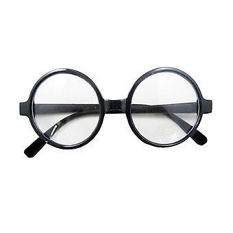 Stylish Glasses Geeky Wizard Style Neutral Lenses Accessories