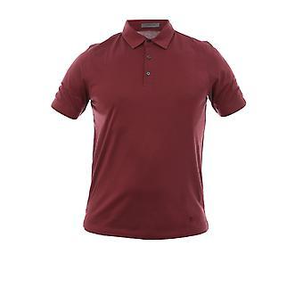 Corneliani Burgundy Cotton Polo Shirt