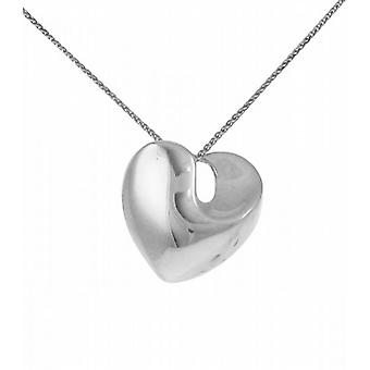 Cavendish French Sterling Silver Solid Swirled Heart Pendant without Chain