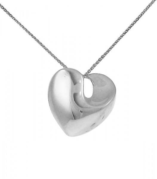 Cavendish French Sterling Silver Solid Swirled Heart Pendant
