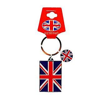 Union Jack mit Disc-Metall-Schlüsselanhänger