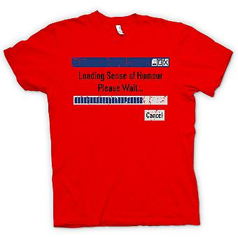 Womens T-shirt - laden Sinn für Humor - bitte warten