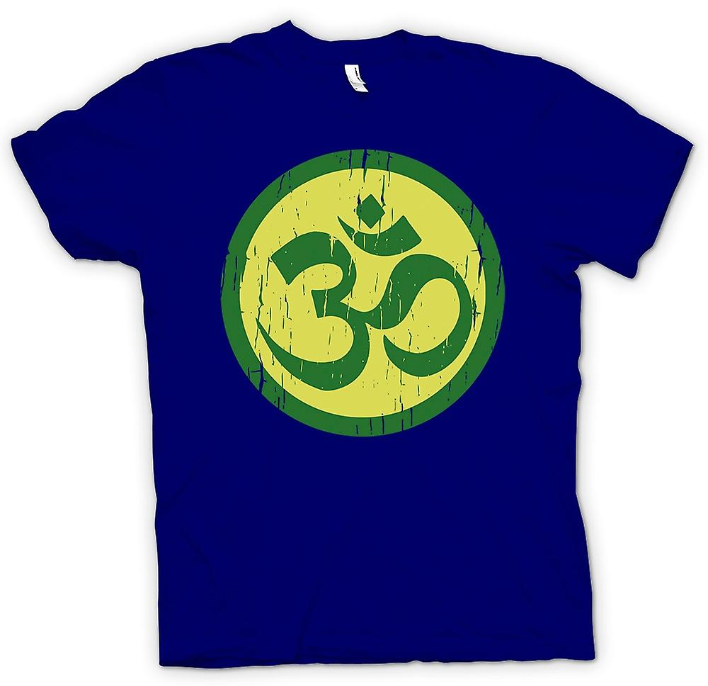 Herr T-shirt - Yoga andlig Motif - Cool Fitness