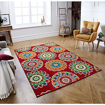 Siena 8321 2 Red  Rectangle Rugs Funky Rugs