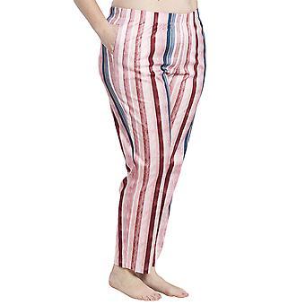 Rosch 1194541-16397 Women's Curve Multicoloured Striped Cotton Pyjama Pant