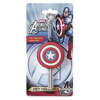 Key Cap - Marvel  - Soft Touch PVC Holder Captain America Logo 68141