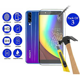 Pack of 3 Tempered Glass Screen Protection For Xgody P20 pro 6