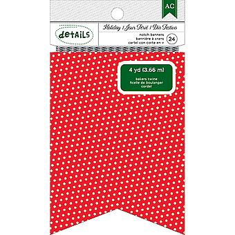 Holiday Details Banner-Red Polka Dot Notch 340533