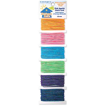 Clubhouse Crafts Elastic Cord Thick Sparkle 6 Colors 3 Yards Each 8900Ec 1 11