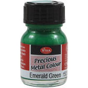 Viva Decor Precious Metal Color 25Ml Pkg Emerald Green Vvpmc 3701