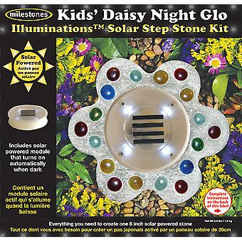 Solar Step Stone Kit Kids' Daisy Night Glo 90111252