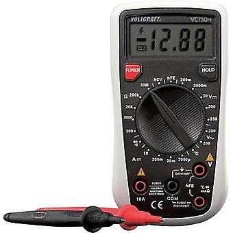 Handheld multimeter digital VOLTCRAFT VC150-1 (ISO) Calibrated to: ISO standards CAT III 250 V Display (counts): 2000